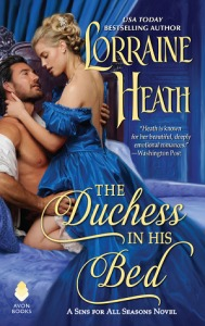 Cover of The Duchess in His Bed by Lorraine Heath published by Avon
